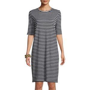 Eileen Fisher Seaside Organic Linen Jersey Dress M